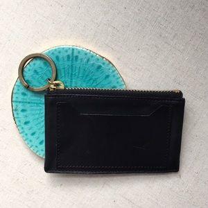 Small Black Leather J.Crew Coin Purse